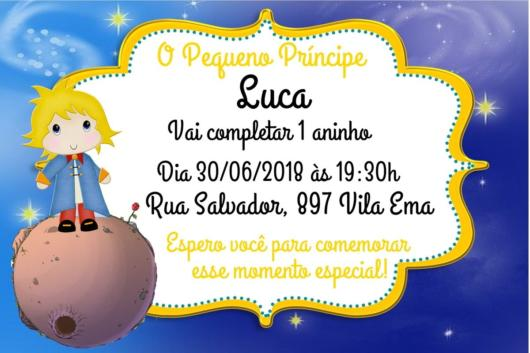 Convite Pequeno Príncipe – 40 Ideias Fofas E Modelos P  Imprimir!