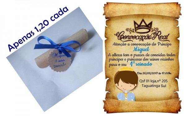 Convite De Aniversario Pergaminho Príncipe No Elo7