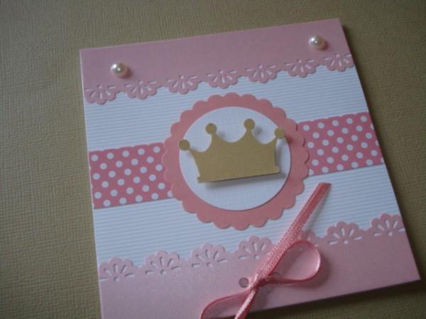 Convite Princesa 10x10cm Fechado No Elo7