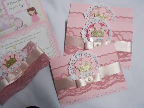 Convite Princesa No Elo7