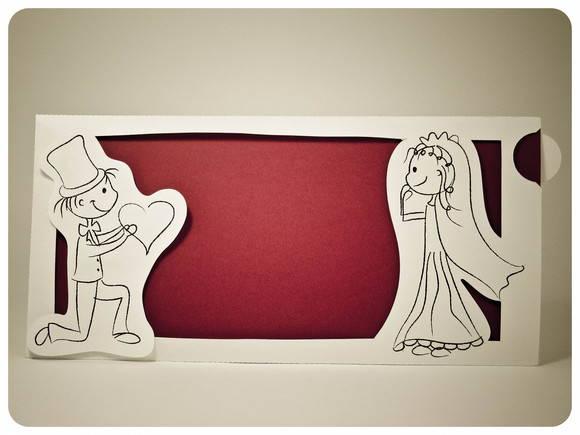 Convite Interativo Ilustração Noivos No Elo7