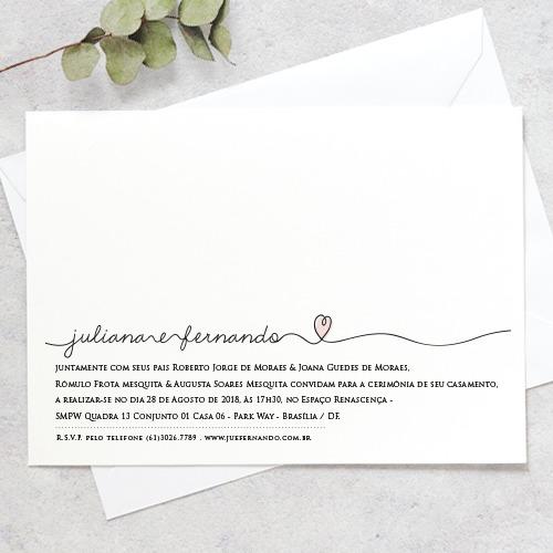 Arte Convite Casamento – Script Coração Digital – Tem Amor No Papel