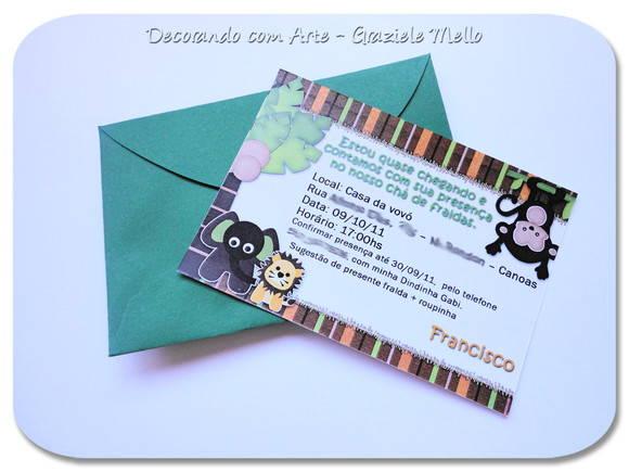 Convite Simples 7x10 No Elo7