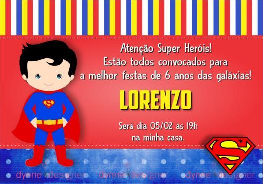 Convite Do Super Homem Para Editar