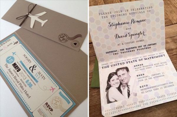 Eu Vos Declaro Viajantes  12 Convites De Casamento Com O Tema
