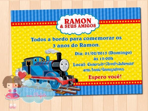 Convite Thomas E Seus Amigos 2