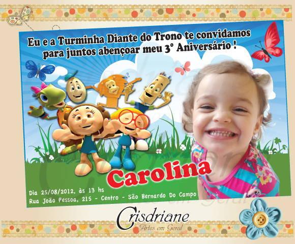 Convite Turminha Diante Do Trono No Elo7