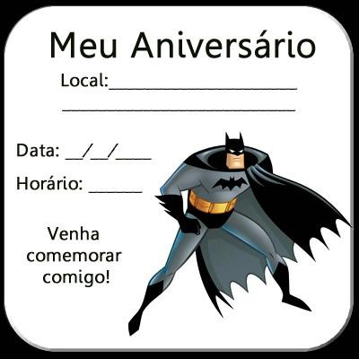 Convites Do Batman Para Aniversário Infantil « Aniversário De Criança