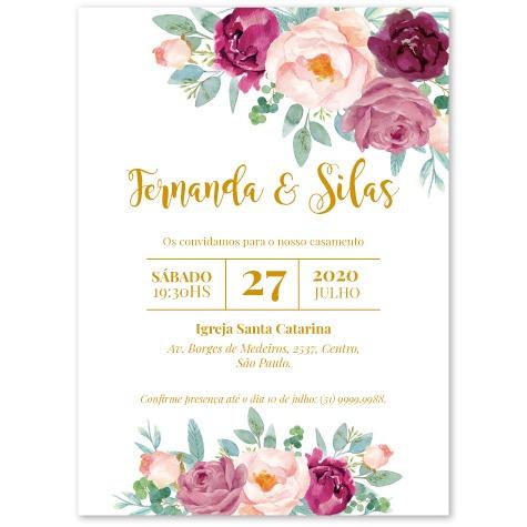 Convite Flores De Julho