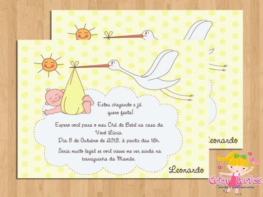 Convites Chá De Bebê – 65 Modelos Apaixonantes & Diy Passo A Passo!