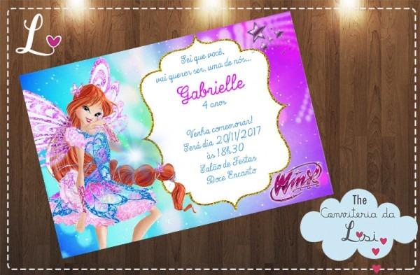 Convites Clube Das Winx No Elo7