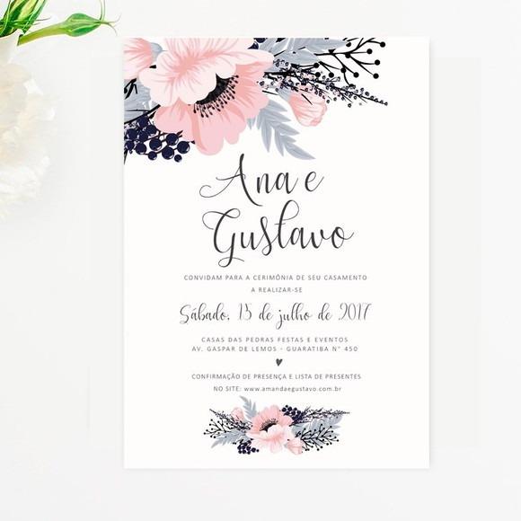 Convite De Casamento 10x15
