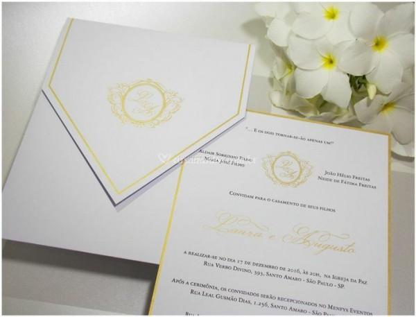 Convite Com Borda Dourada C001 De Invicta