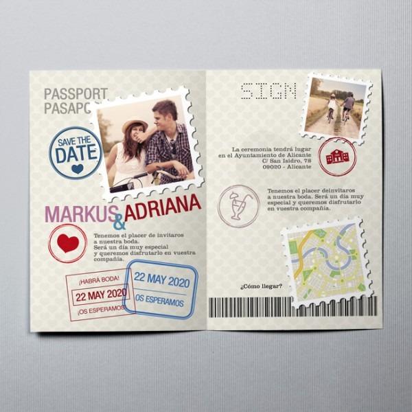 Convites De Casamento Passaporte 20868