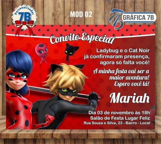 45 Convites Ladybug Miraculous – Com Inspirações Lindas Para Imprimir