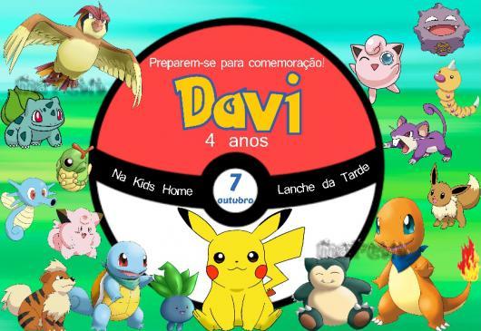 Convites Pokémon  30 Modelos Diferentes & Como Fazer Em Casa!