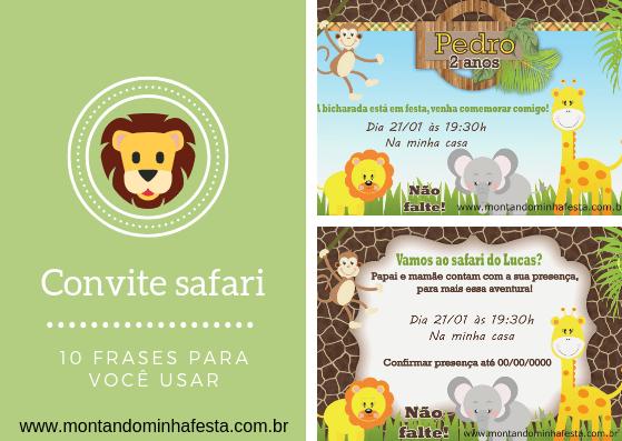 10 Frases Criativas Para Você Fazer Seu Convite Tema Safari