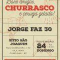 Convite De Aniversario Com Churrasco E Cerveja