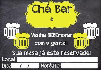 Convites ChÁ Bar