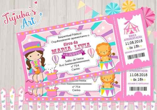 Convite Individual Circo