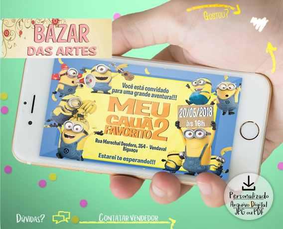 Convite Minions Em Eva Festas Convites Cha Bebe