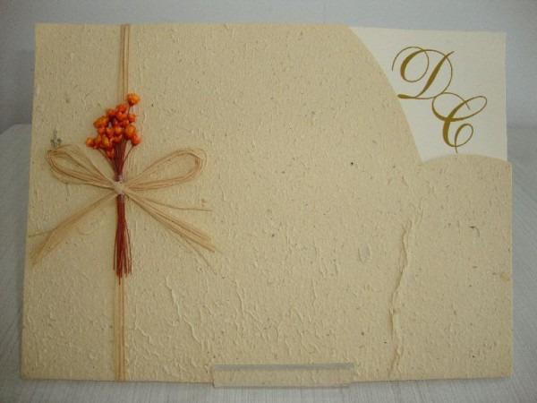 Selma Convites Designer  Convites De Casamento Com Papel Reciclado