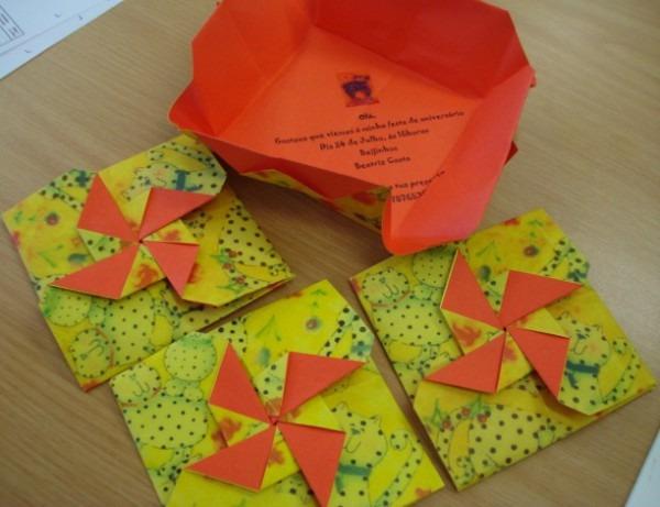 Convites Em Origami