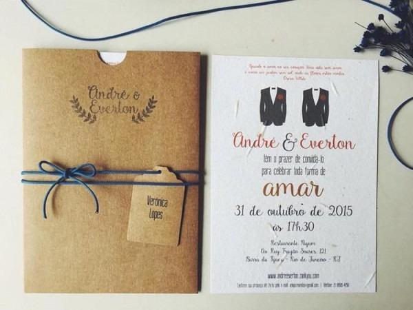 Convite Casamento Homoafetivo;