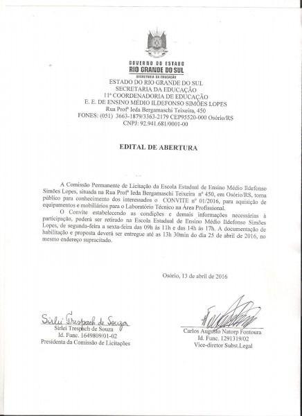 Carta Convite Licita  O