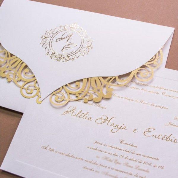 Convites De Casamento Tradicional