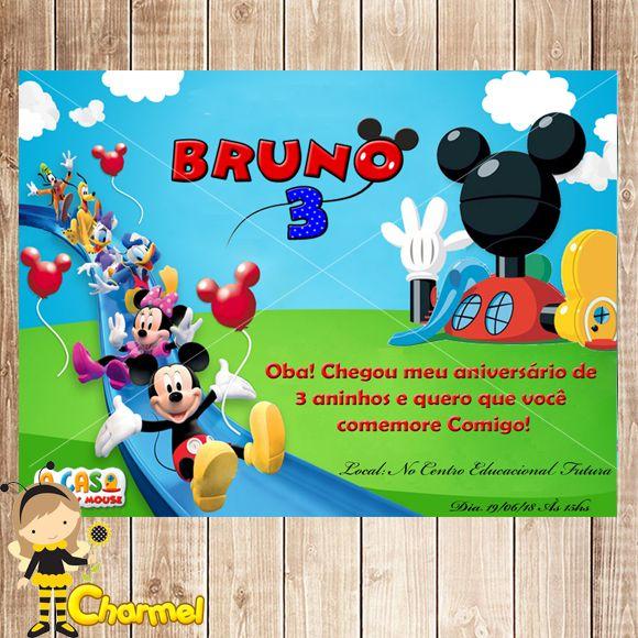 Convite A Casa Do Mickey