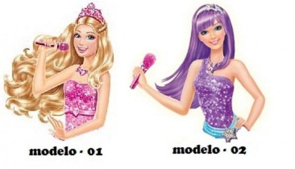 Aplique 5cm Busto Barbie Pop Star