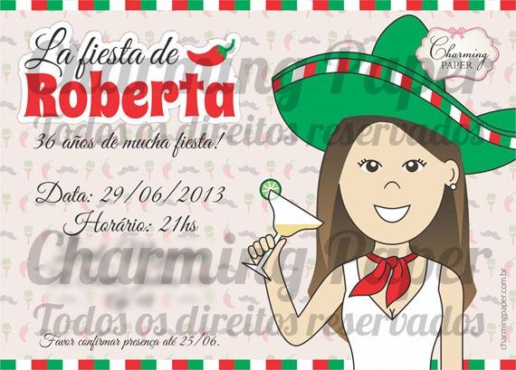 Charming Paper » Aniversários – Linha Festa Mexicana