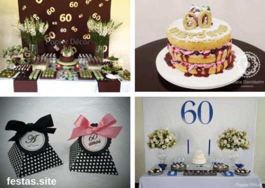 Festa De 60 Anos  Dicas De Decoração, Bolo, Convites E 30 Fotos