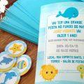 Festa Infantil Fundo Do Mar Convite
