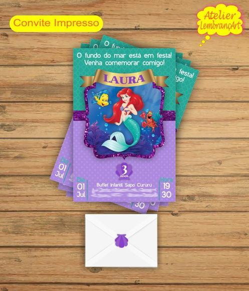 Convite 7x10 Tamanho  9x14  R$1,80     Acompanha Envelope Branco E