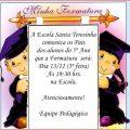 Convite Formatura 5 Ano