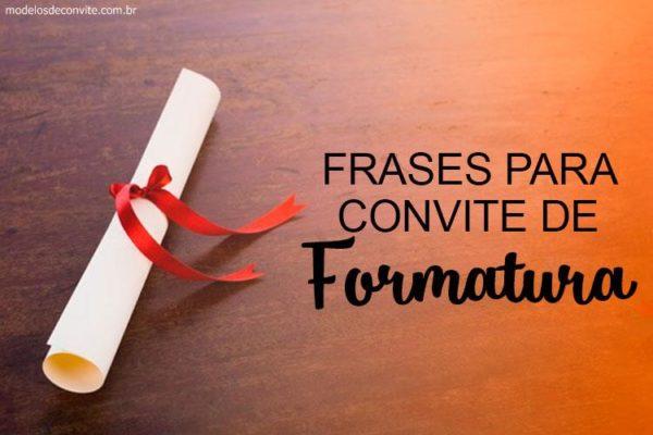 Convites De Formatura – Modelos De Convite