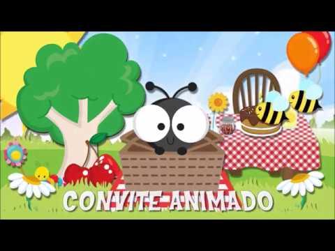 Convite Animado Picnic Para Editar