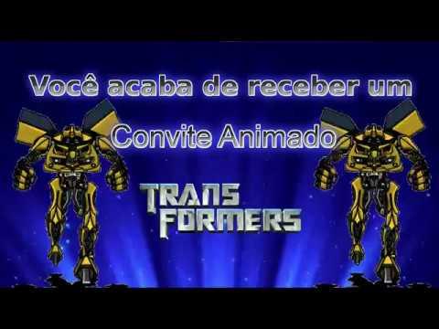 Convite Animado Transformers Tkm Convites Animados
