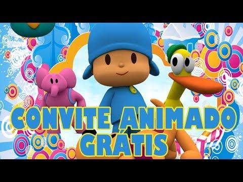 Convite Animado Pocoyo Grátis