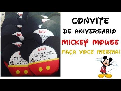Como Fazer Convite De Aniversário Do Mickey Mouse