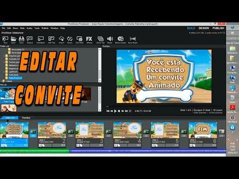 Como Editar Um Convite Virtual Animado No Proshow Producer