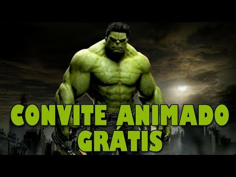 Convite Animado Hulk Grátis