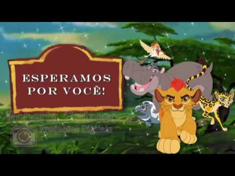 Convite Animado Tema A Guarda Do Leão