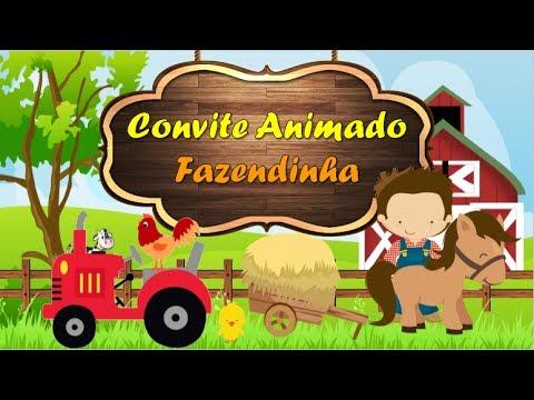 Convite Animado Fazendinha