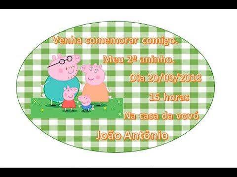 Como Fazer Convite Da Peppa Pig No Word