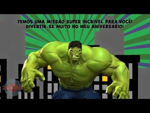 Convite Animado Hulk