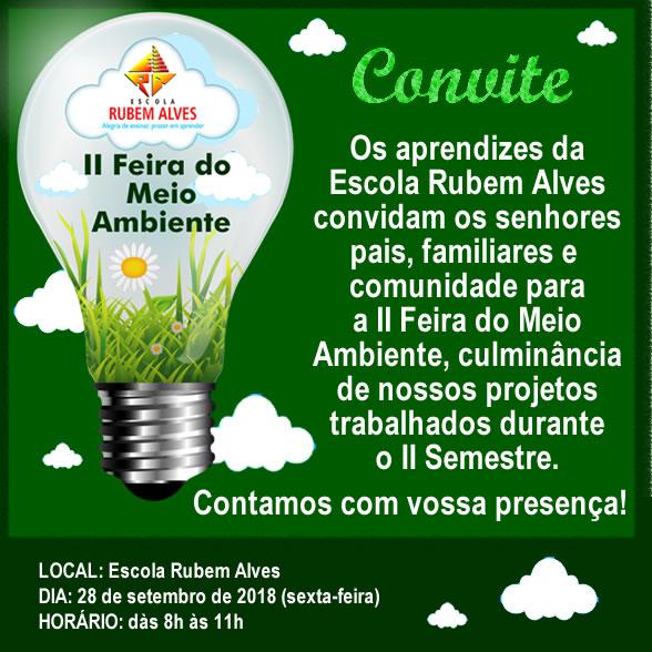 Convite – Ii Feira Do Meio Ambiente – Escola Rubem Alves