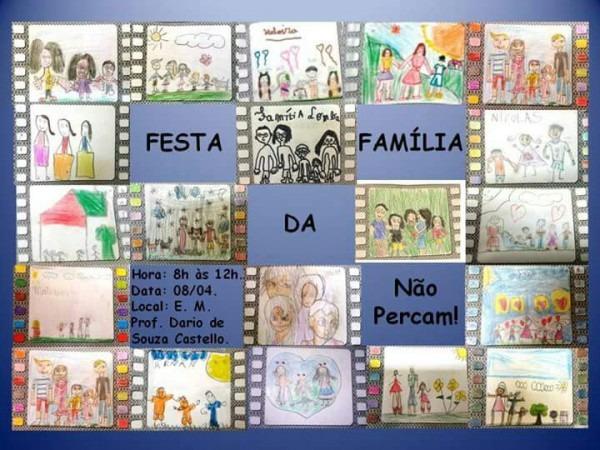 Convite  Festa Da Família Na Em Prof  Dario Castello